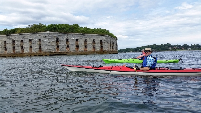 Kayak to Fort Gorges