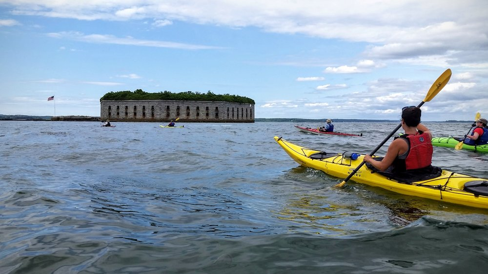 Sea kayak Tour to Fort gorges  - 3 hours