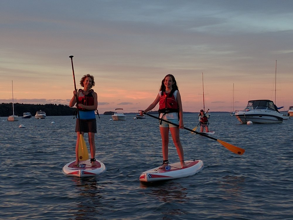 SUP Sunset Tour - Mondays, Thursdays, Fridays, Saturdays or by request(start time varies with sunset; click below for timing) $40 per person