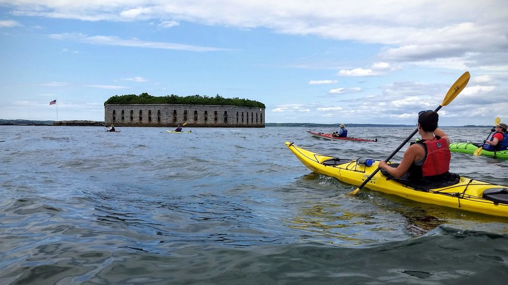 Fort Gorges Kayak Tour - 9:30 to 12:30 on Tues, Thurs, Fri, Sun2:00 - 5:00 on most Saturdays$52 per person, $42 for kids 10-16