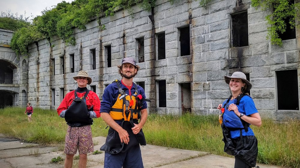 Your knowledgeable guide will tell anyone who's interested about the Fort's storied history