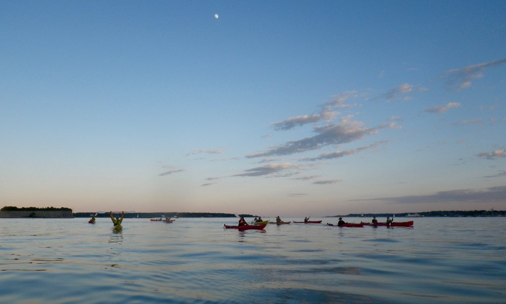 Moonlight Paddle - Every Friday evening (departure time varies with sunset; click the button below to view time slots) $45 per person, $35 for kids 12-17