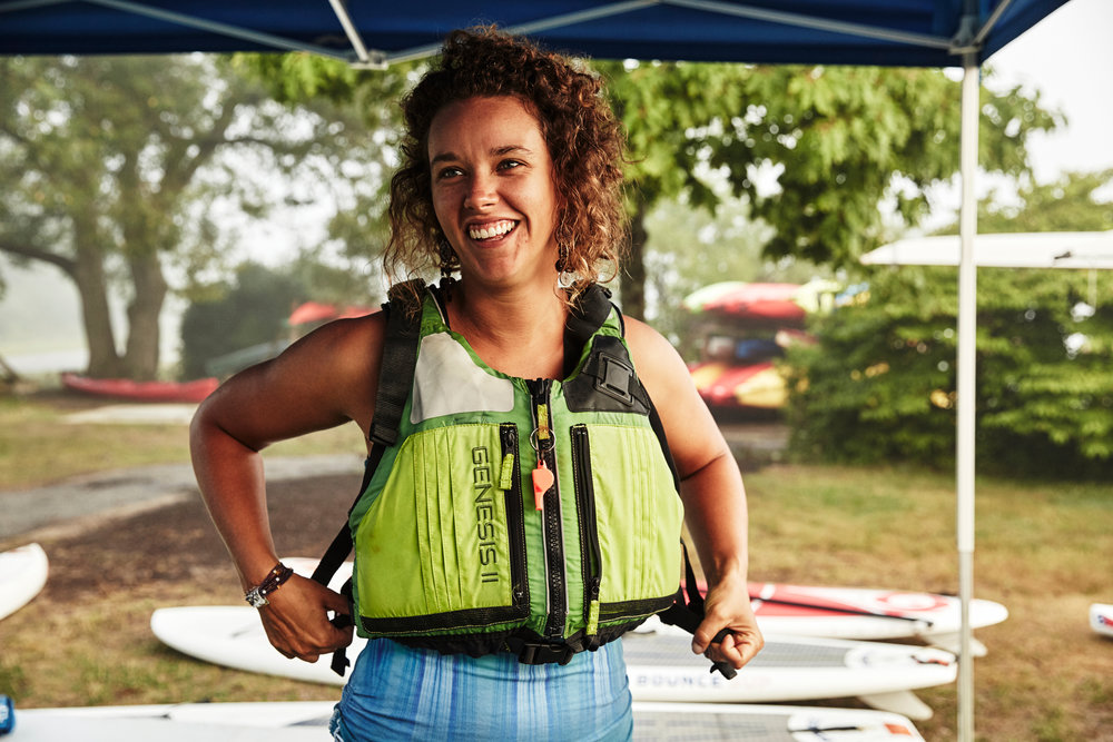 Ashley Flowers - Ashley, our Program Manager, is a Yoga Instructor, Environmental Educator, Entrepreneur and life-long lover of the water! She is a licensed Maine Guide and an ACA-certified SUP instructor. Ashley has been helping people connect with nature and with themselves for over a decade and looks forward to sharing her love of yoga, SUP, and Casco Bay with you! If you can't pack in enough paddleboading this summer check out Ashley's winter indoor paddleboard yoga classes at ashleyfloweryoga.com