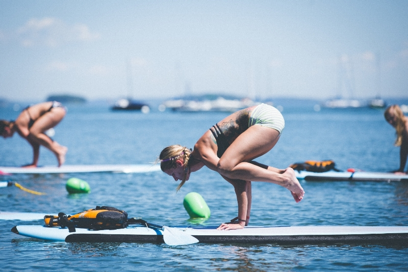 Stand-up Paddleboard Yoga in Maine