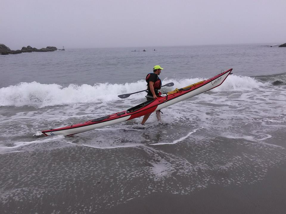 Joe prepares for a succesfull surf launch at our Crescent Beach location
