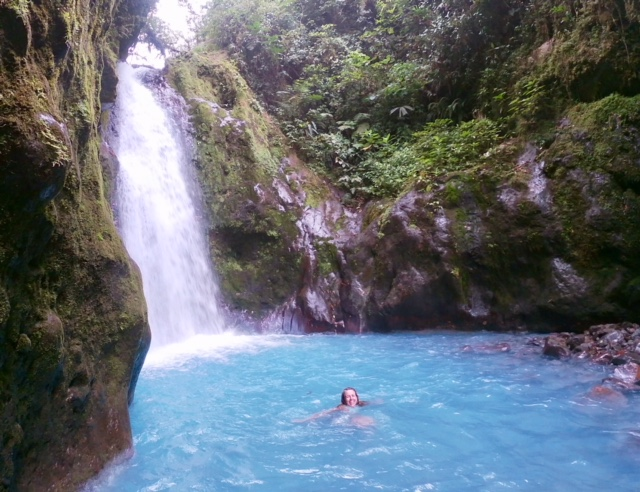 Cathy has been swimming in waterfalls in Costa Rica (with her daughter, Portland Paddle staffer Zoe)