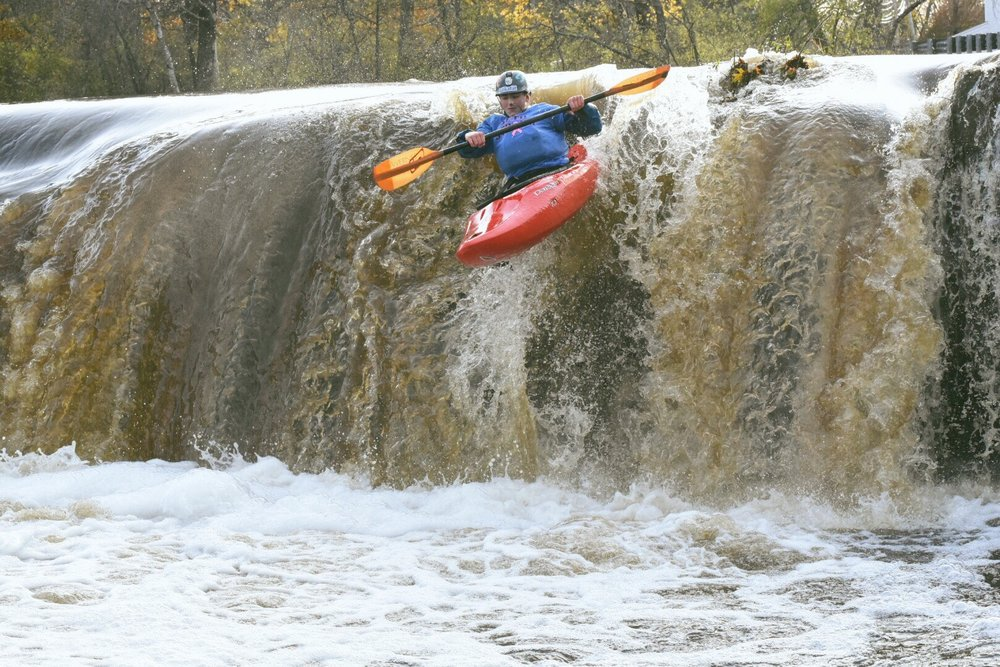 Sam Marjerison has been paddling whitewater through the off-season