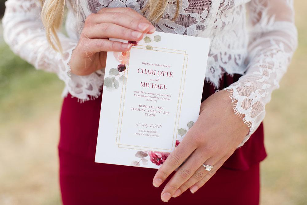 emma barrow burgh island elopement wedding photographer knots and kisses stationery