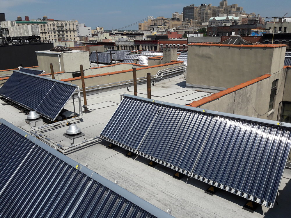 Community League of the Heights Solar Thermal projects