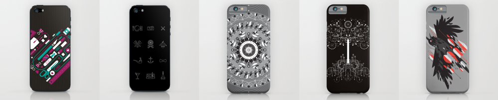 Cellphone cases - more at the link. Via Society6.