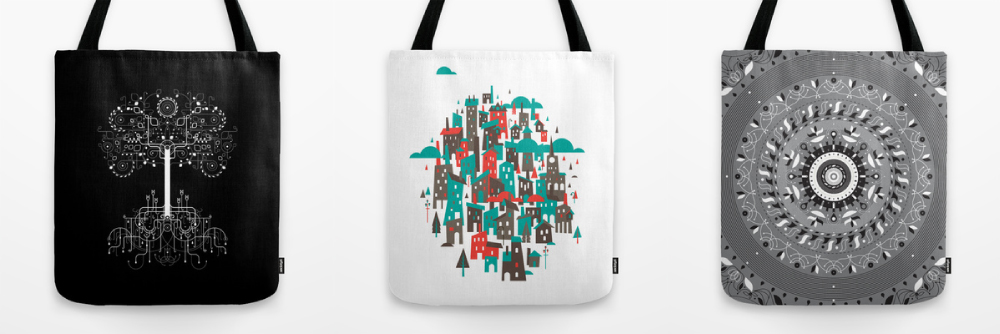 Awesome tote bags. Via Society6.