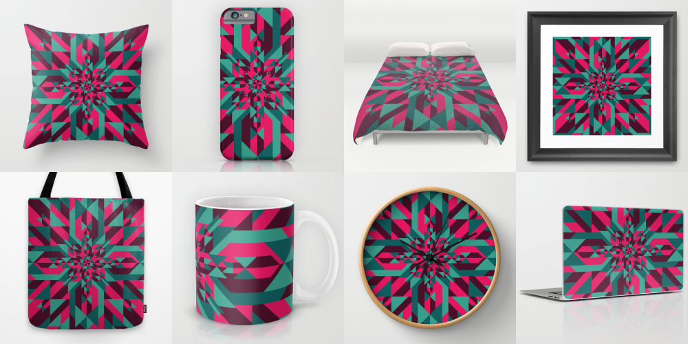 Explosive Star products. Via Society6.
