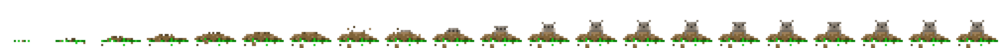 Gopher coming out of ground sprite sheet.