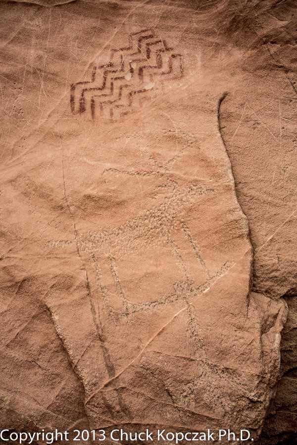 Petroglyph and petrograph