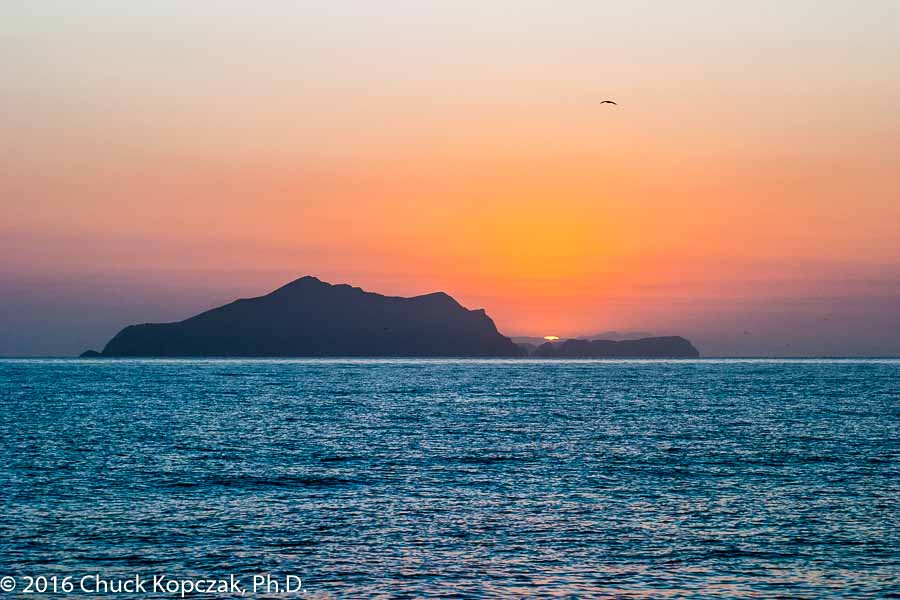Sunrise over Anacapa Island off the California coast.