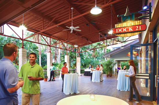 This is obviously not our event, it's a press photo, I just didn't get any shots of the patio. Photo via  Sea World Orlando