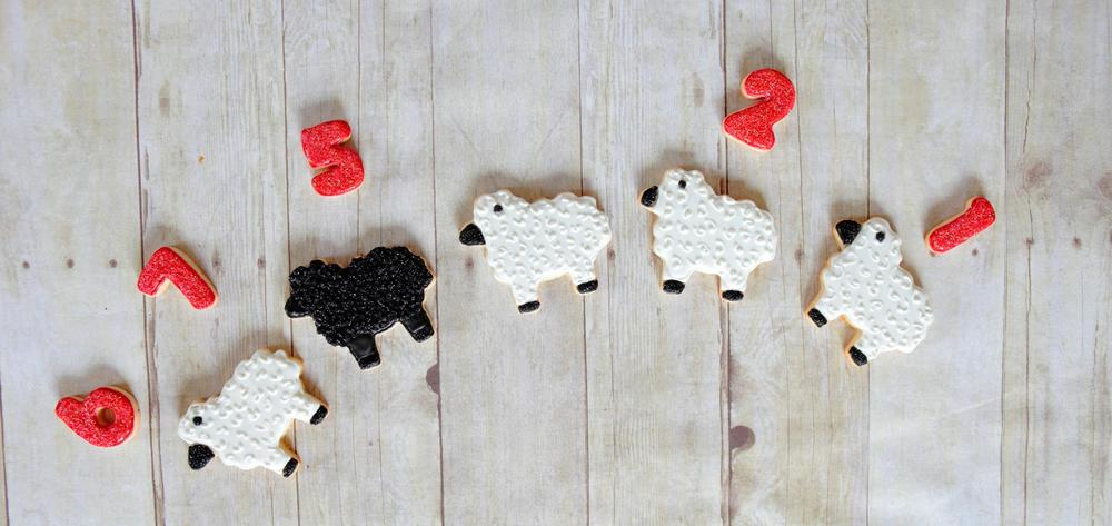 Can't sleep?  Count sheep!  (And eat cookies)