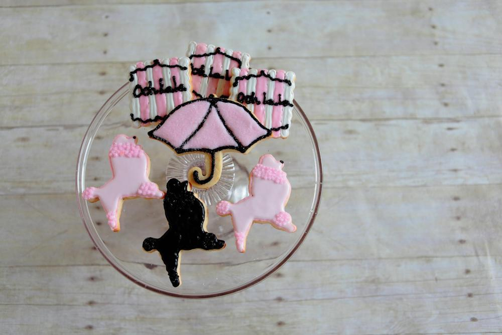 Delightfully chic cookies, perfect for a shower or girls' event!