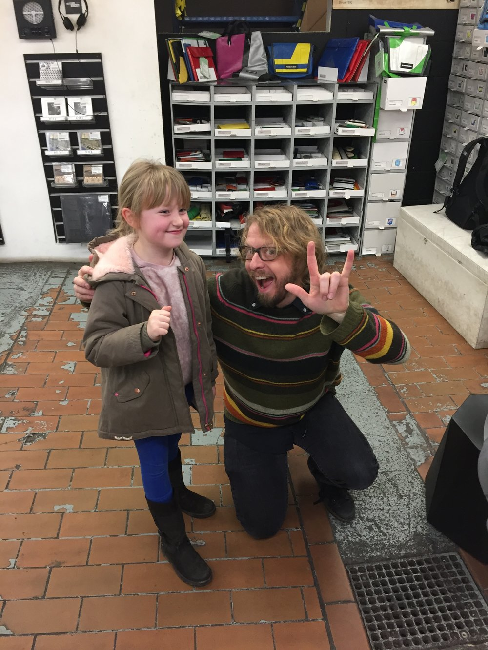 Our youngest fan at our in-store at Rough Trade Records East in London
