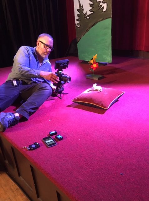 Cinematographer John Clark working mouse magic for the Camelot video...
