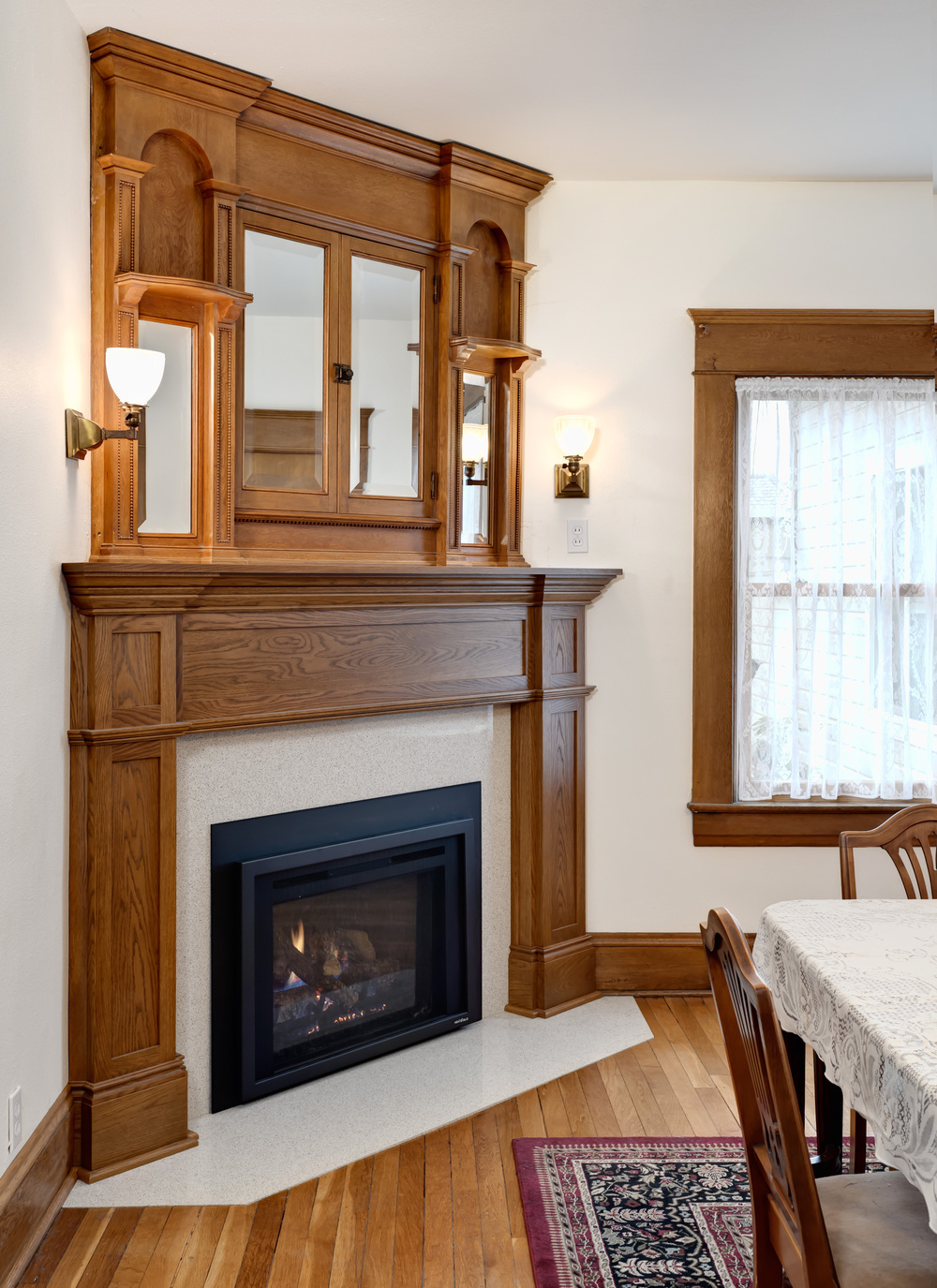 fireplace revamp in a 1906 home
