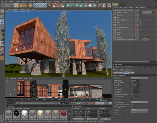 Cinema 4d 12 sketchup 8 released method digital training for Cinema 4d architecture
