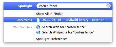 My actual Spotlight search query