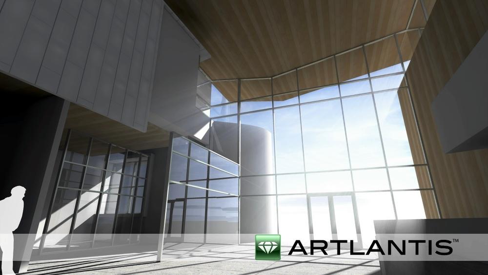 An example of Artlantis 5's god rays. Click for full screen.