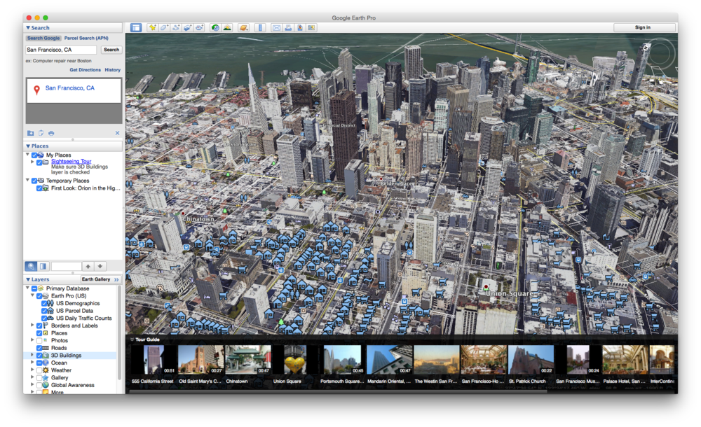 how to get square footage on google earth