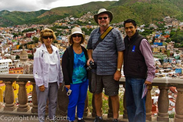 Our group with a great view of Guanajuato