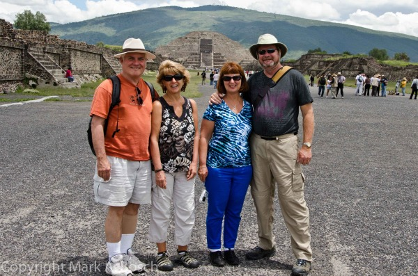 Our group at the Teotihuacan Pyramids