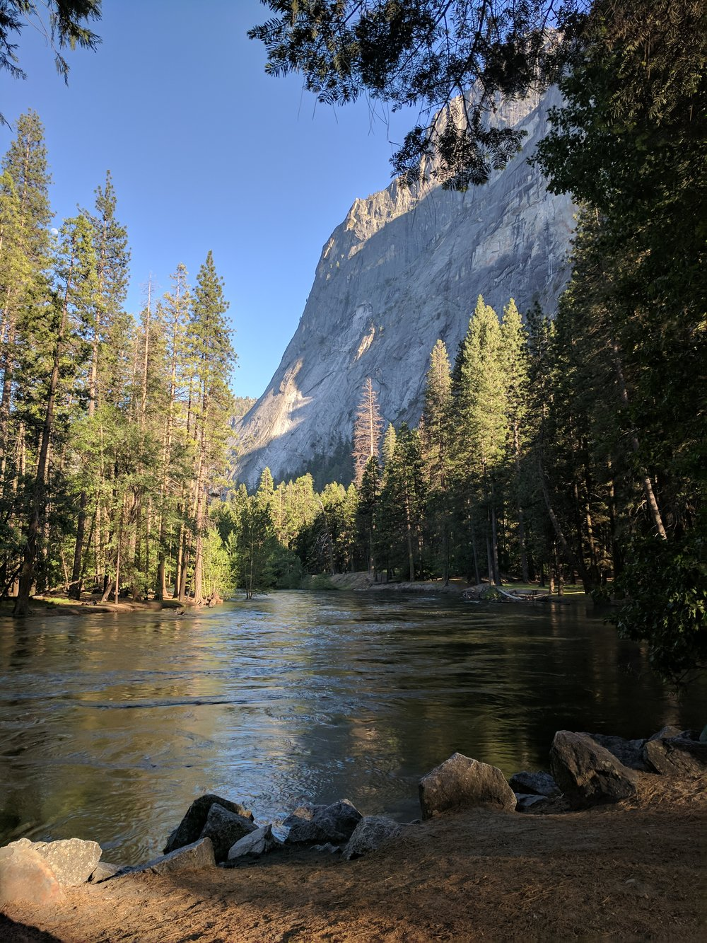 Merced River at Housekeeping Camp. 2017  Our campsite
