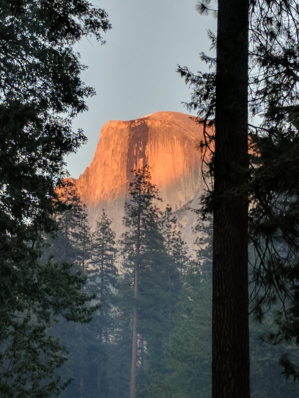 Half Dome from our camp.
