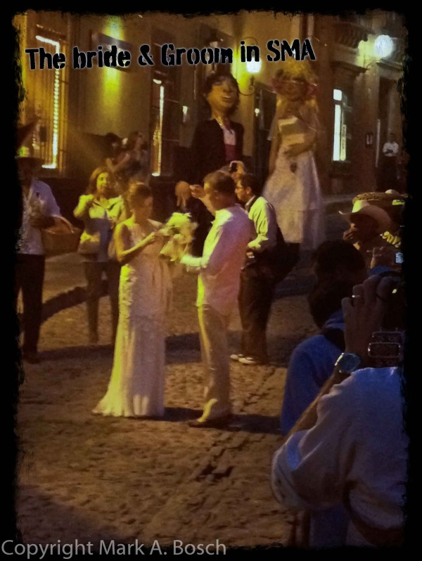 The lovely bride and groom.