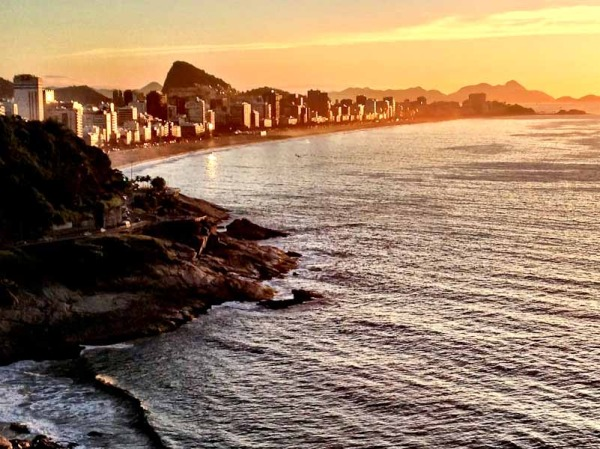 Leblon and Impanema Beaches from Sheraton Rio