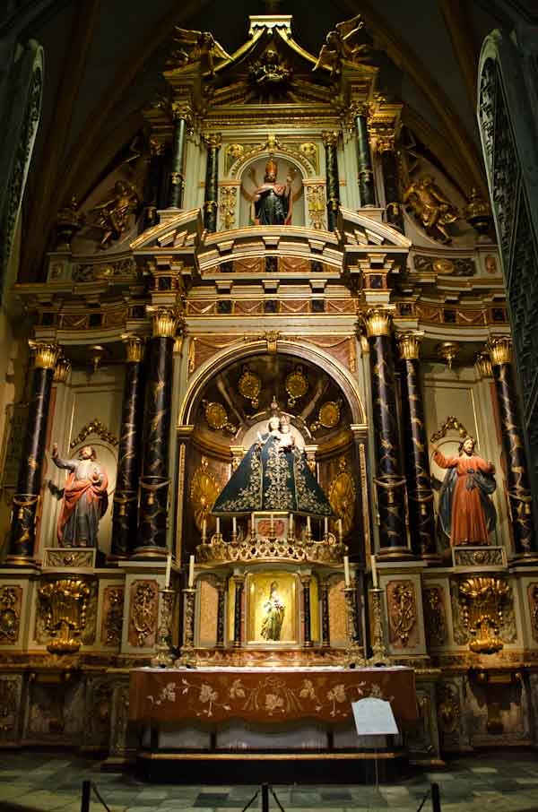 One of several chapels in Cathederal of Lima, Peru