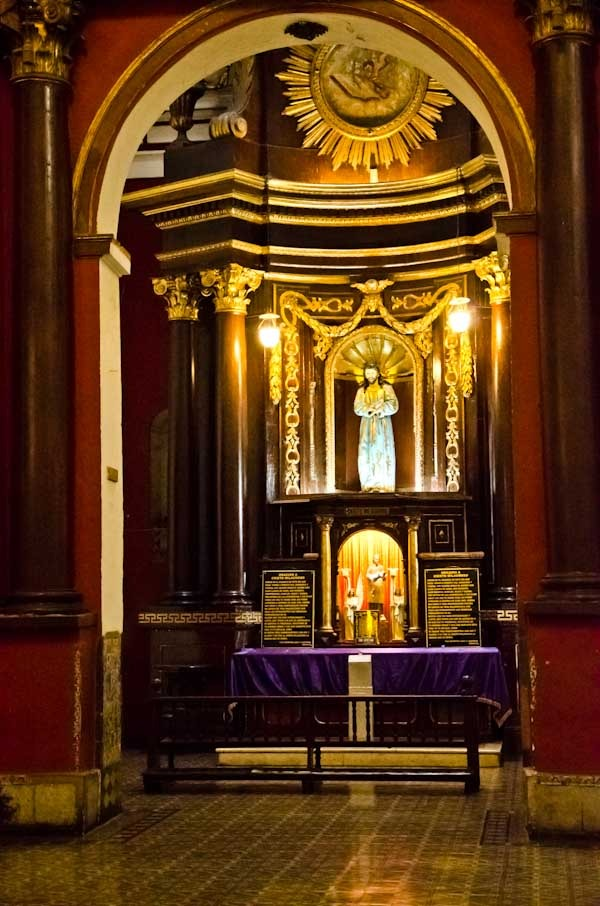 San Francisco Monestary Church Side Altar - Lima, Peru