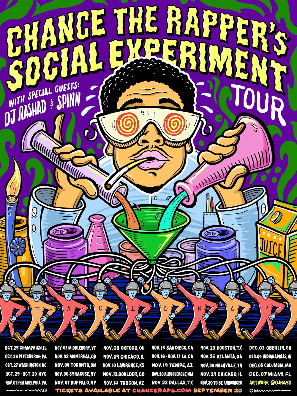 Chance The Rappers Social Experiment Tour Poster