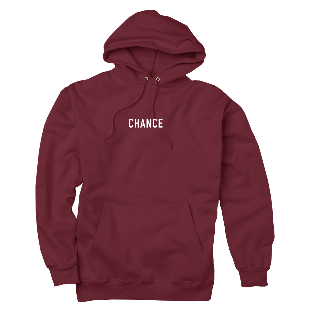 Coloring book chance the rapper hat - C3 Hoodie Maroon Front Png