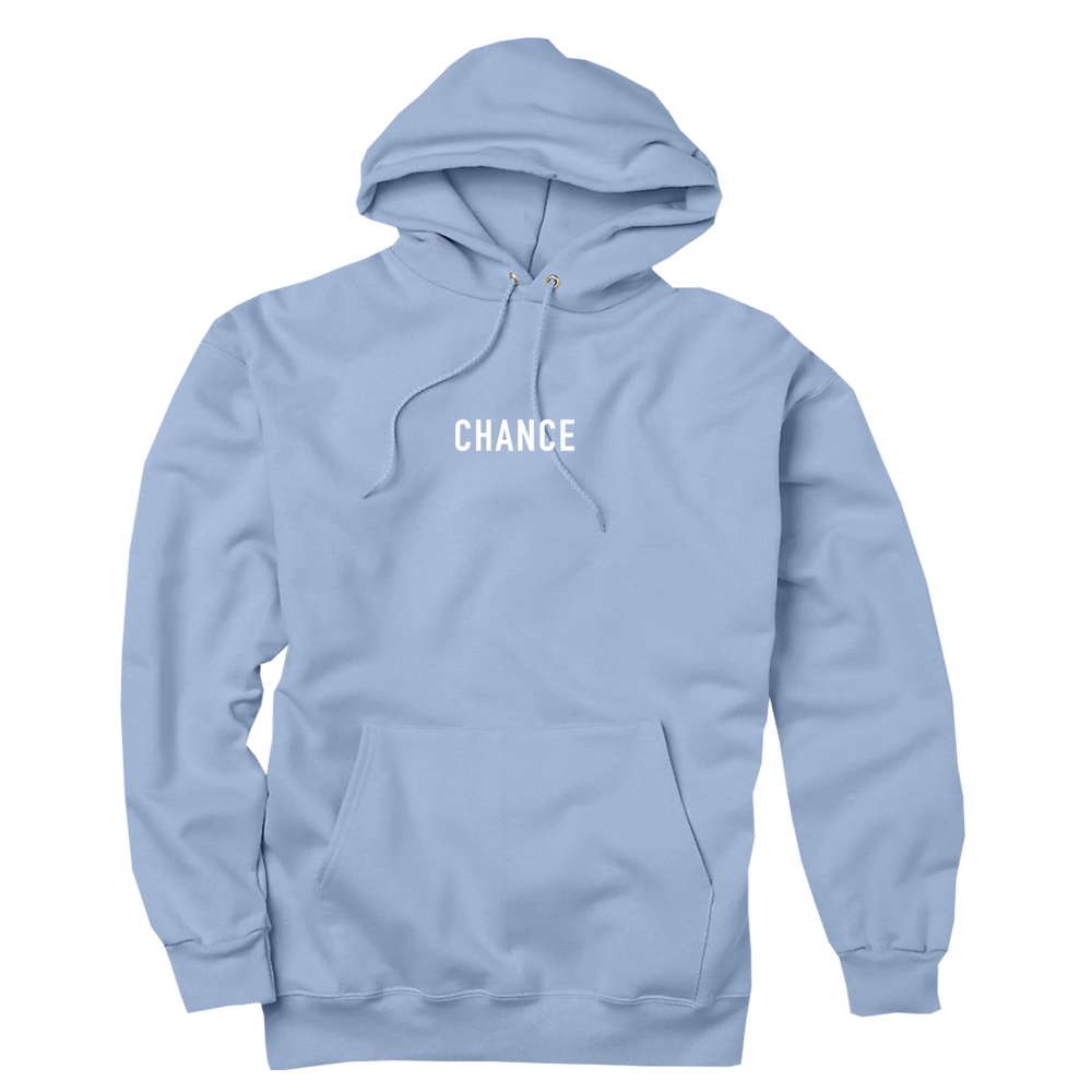Light blue hoodie