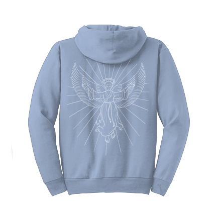 Coloring Book Hoodie Light Blue