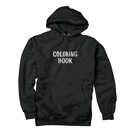 Coloring Book Hoodie Black