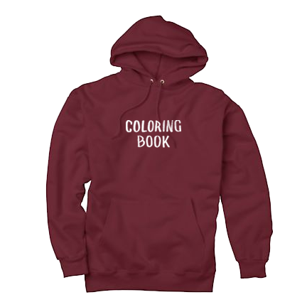 Coloring Book Hoodie Maroon