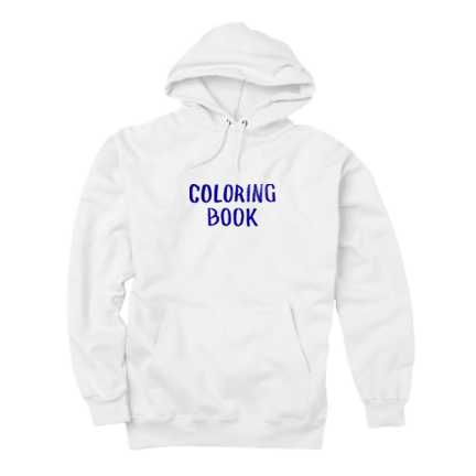 Coloring Book Hoodie White