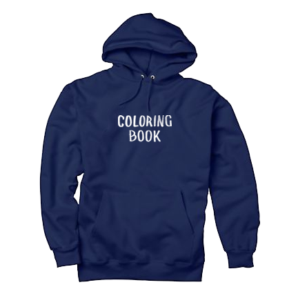 Coloring Book Hoodie Navy Chance The Rapper