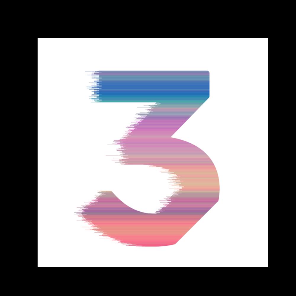 chance 3 sticker square multicolor u2014 chance the rapper