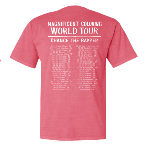 Summer Friends Tee 4000 Official 2016 Magnificent Coloring World Tour Merchandise