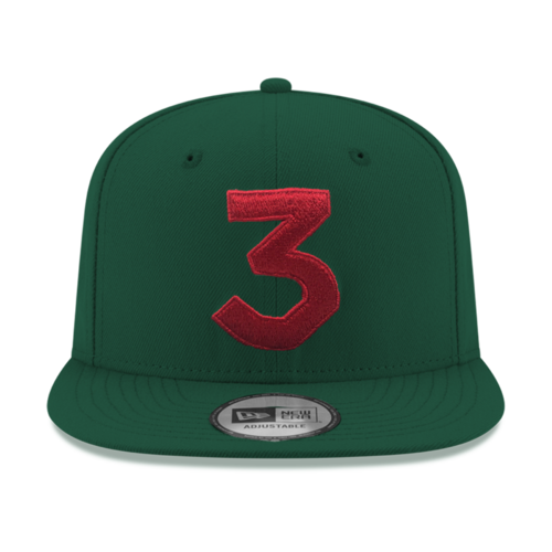 Chance 3 New Era Cap (Green   Red) — Chance the Rapper c206c712527