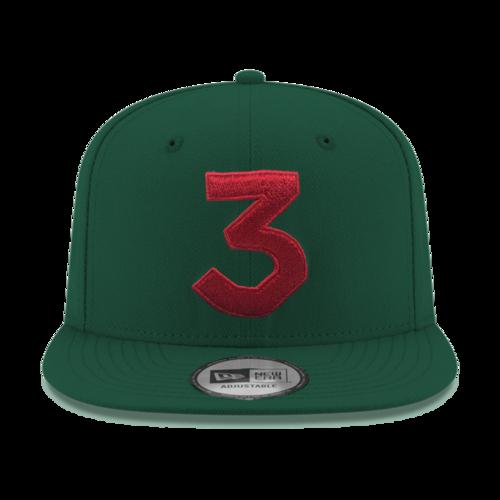 Chance 3 New Era Cap (Green   Red) — Chance the Rapper 024a1152e40