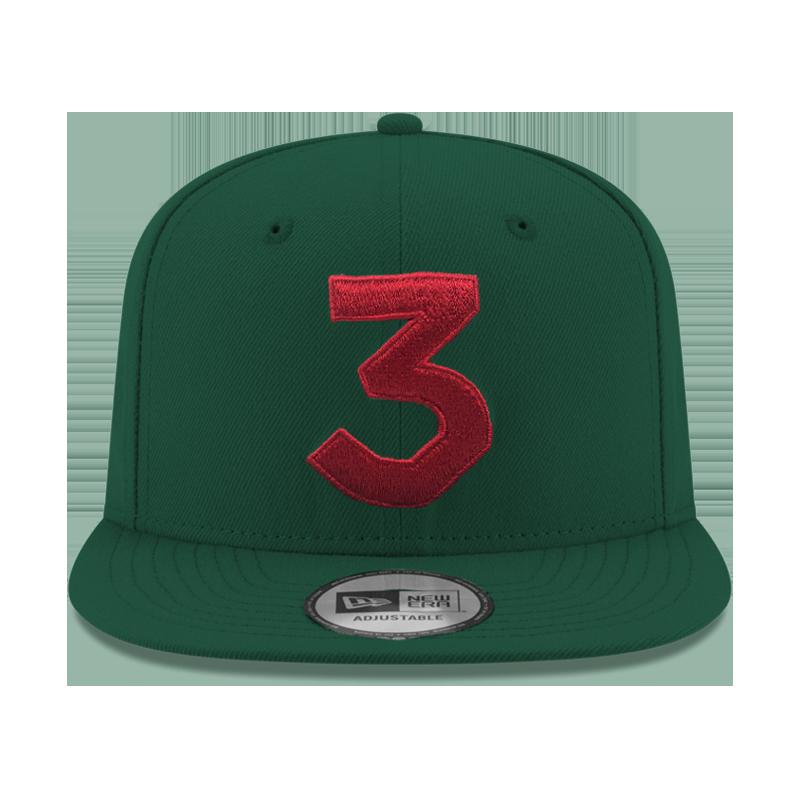 Chance 3 New Era Cap (Green   Red) — Chance the Rapper c206c712527